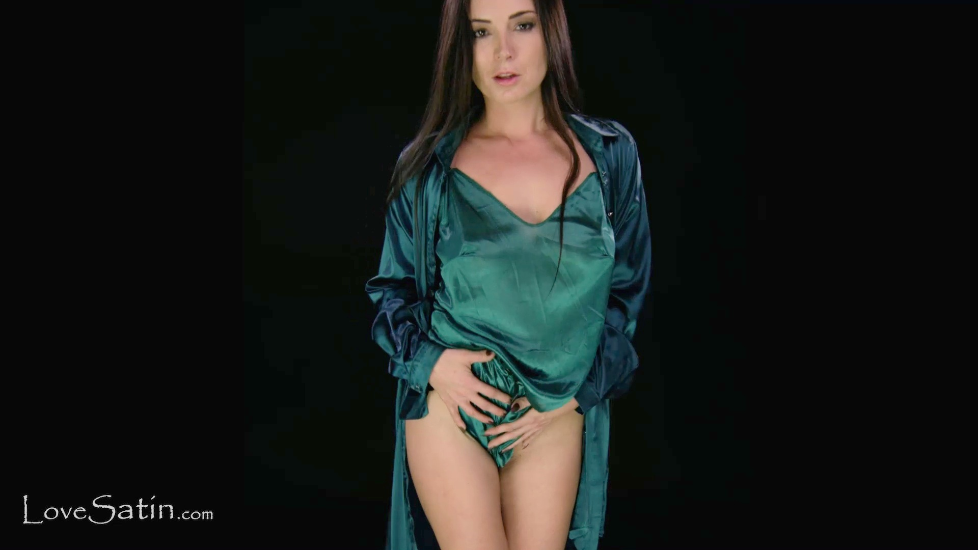 content/Cindy/Unbuttoning my Teal Satin Dress - Cindy/1.jpg