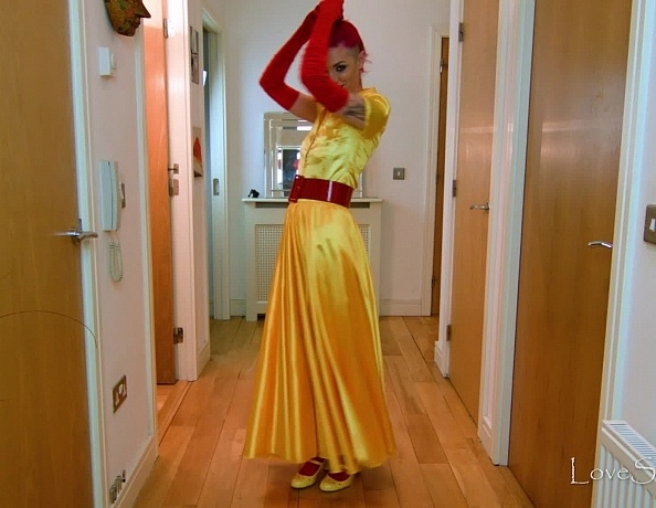 content/Summer/Summer Yellow Red 1950s Style Satin/4.jpg